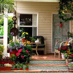 mosaic tile front porch steps