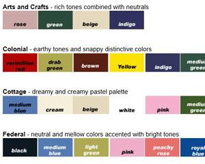 Architectural colors for front porches