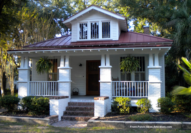 arts and crafts style porch columns