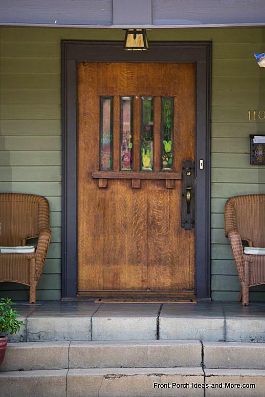 Exterior front doors door decorations front doors for Arts and crafts door