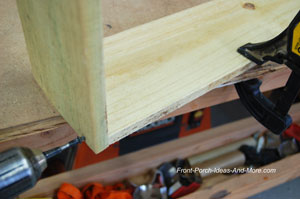 attaching base to post with screws
