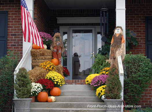 Colorful fall decorations