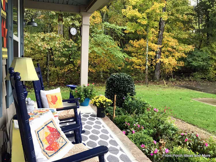our autumn porch and a view of the October foliage