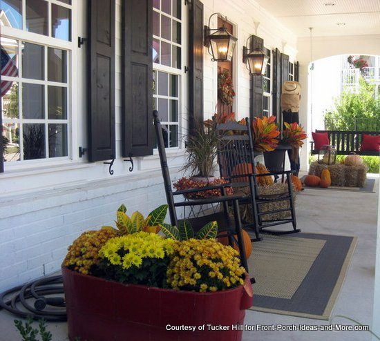 autumn porch at Tucker Hill