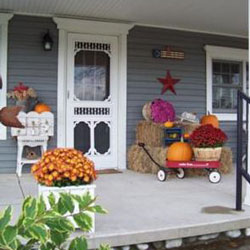 Autumn Porch Contest Decorating For Autumn Halloween