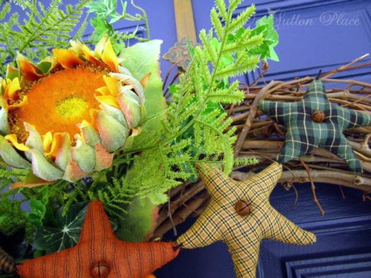cheerful decorative autumn wreath
