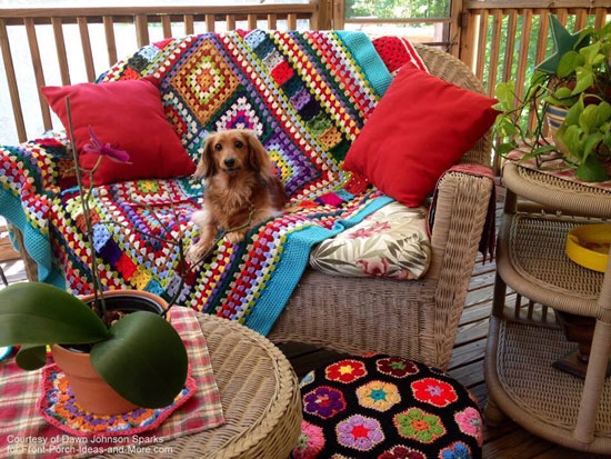 Dawn's super inviting back porch
