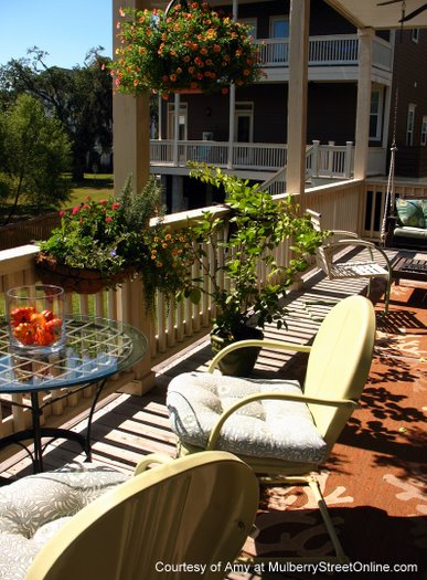 Place to enjoy breakfast on the back porch