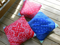 patriotic bandana pillows