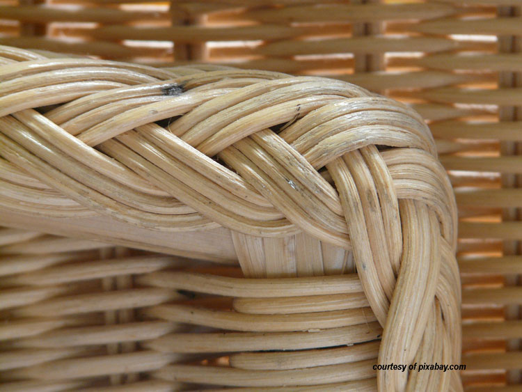 photo of wicker material