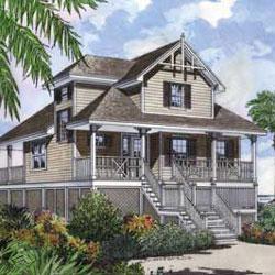 beach home plan with porch