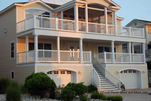 Beach home plans coastal houses front porch pictures for Seaside house plans designs