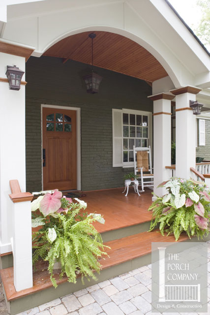 Front porch construction details stunning befores and afters for Stained front porch