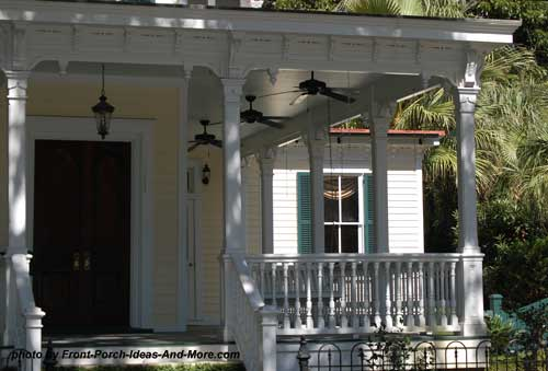 Beaufort Sc Front Porch With Outdoor Ceiling Fans