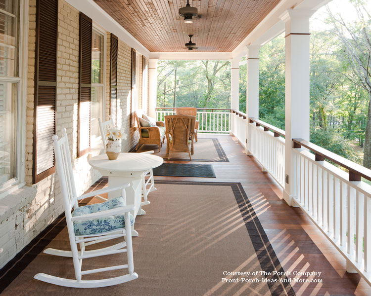 Beautiful Front Porch Flooring And Bead Board Ceiling