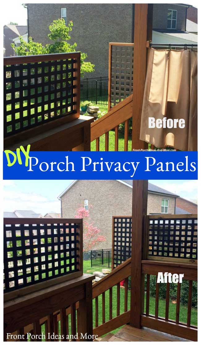 before and after: we replaced our short porch curtains with a privacy panel