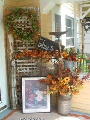Embrace the Day & Autumn Porch Decorating Contest 2009