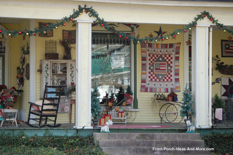 Bell Buckle TN decorated front porch