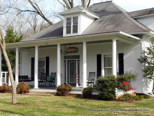 open front porch in Bell Buckle TN