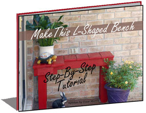 Learn to Make This L-Shaped Bench for Your Porch