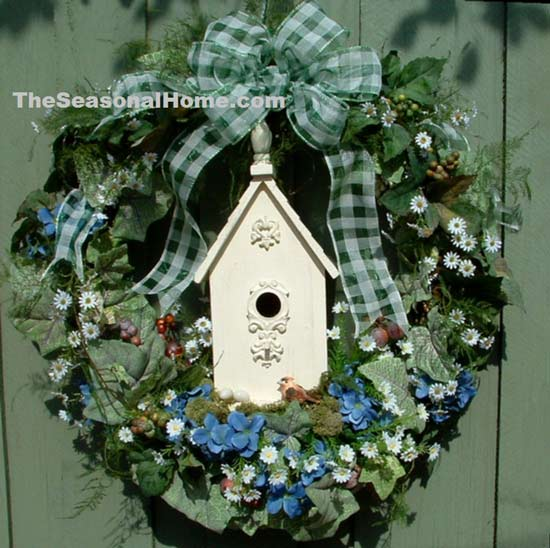 The Seasonal Home birdhouse wreath