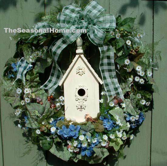 The Seasonal Home birdhouse wreath