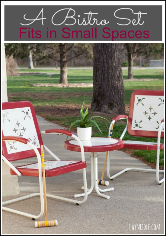 Superb Bistro set fits in a small space