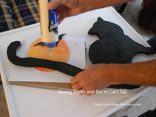 glue bat to moon