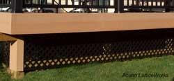 black vinyl lattice by acurio latticeworks