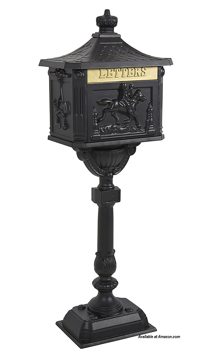 authentic looking black postal box from amazon.com