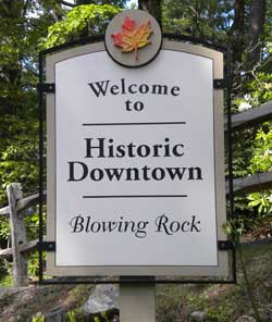Blowing Rock welcome sign
