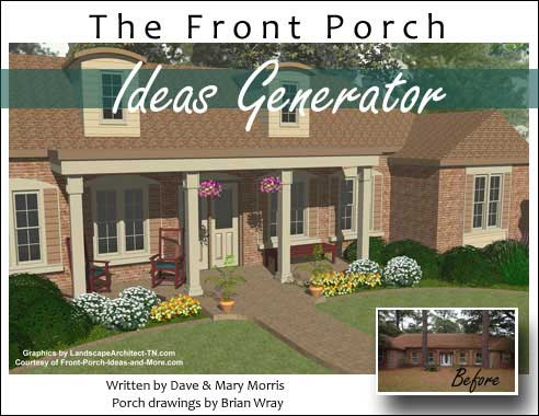 Ebook For Front Porch Ideas. Great Front Porch Designs Illustrator on a Basic Ranch Home Design
