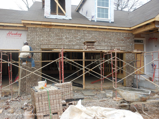 house being bricked