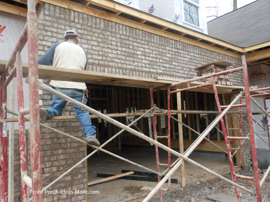 installing brick on home