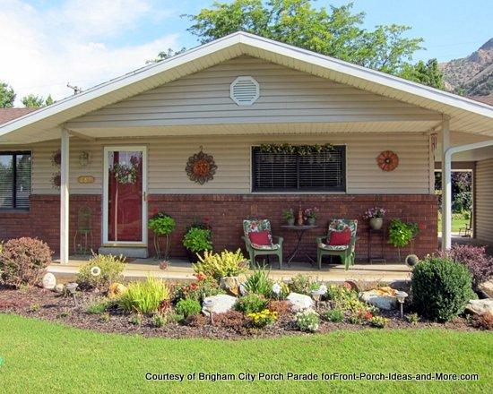 spacious open front porch