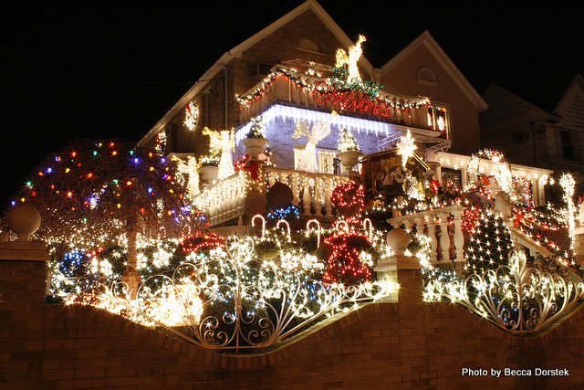Christmas lights in Brooklyn's Dyker Heights