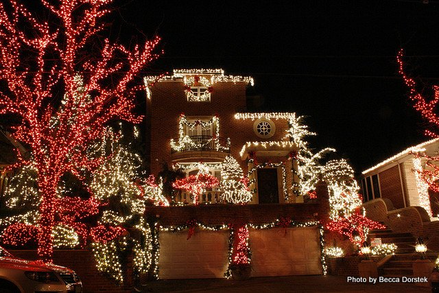 brilliant lights at holiday time