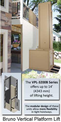 Bruno vertical porch lift