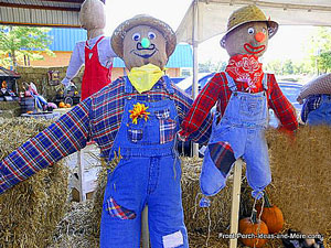 Willard and Tom the Scarecrows