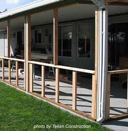 Building a screened in porch can be an easy and fun project build a screen porch column spacing solutioingenieria Images