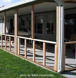 DIY three season porch project