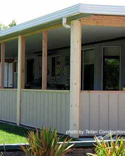Build a Screened-in Porch - Knee Wall