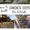 building concrete steps to front porch