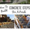 building concrete steps to front porch