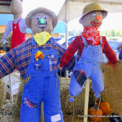 two fun scarecrows to build