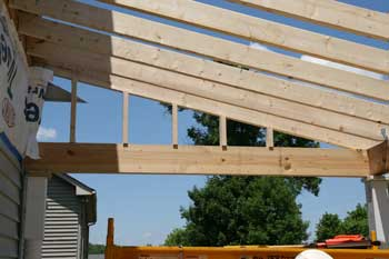 Building a porch roof porch roof framing for Building a front porch deck