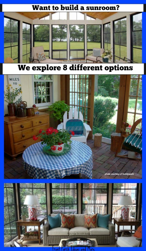 8 options for building a sunroom - depends on where you are starting