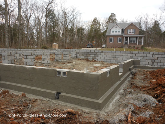 residential foundation completed