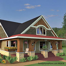 quaint bungalow floor plan with porch