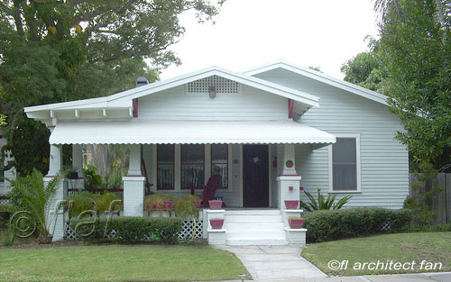 Bungalow With Scalloped Porch Roof